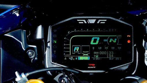 2018 Suzuki GSX R1000R Buildbase motorcycle - close view, instruments