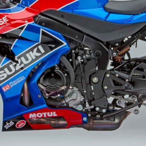 2018 Suzuki GSX R1000R Buildbase motorcycle engine - close view