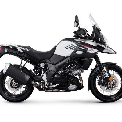 Suzuki V-Strom 1000X GTA motorcycle - Pearl Glacier White (YWW) colour