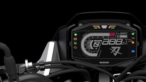 Suzuki Katana motorbike - advanced instrumentation