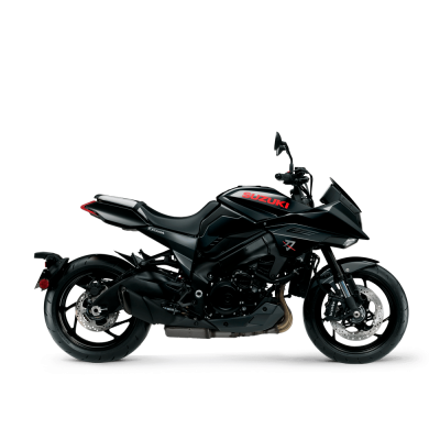 Suzuki Katana motorcycle - Glass Sparkle Black (YVB) colour