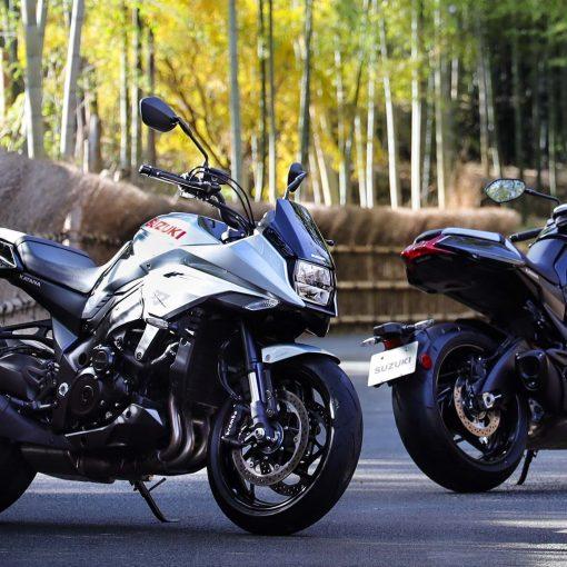 Suzuki Katana motorcycle parked, Chelsea