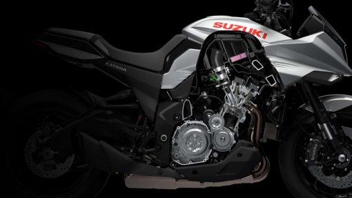 Suzuki Katana bike - engine